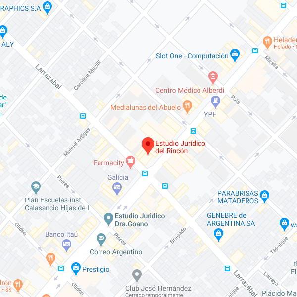 Estudio Jurídico Del Rincón - Oficina Mataderos